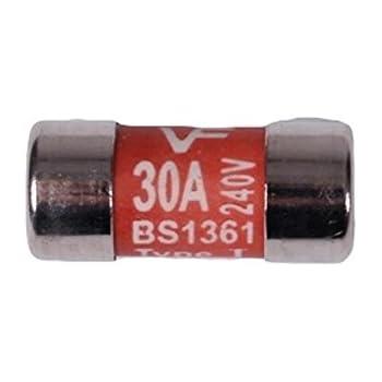 2 x 5amp Consumer Unit Distribution Board Fuses BS1361 240V Cartridge Sockets Cooker Showers