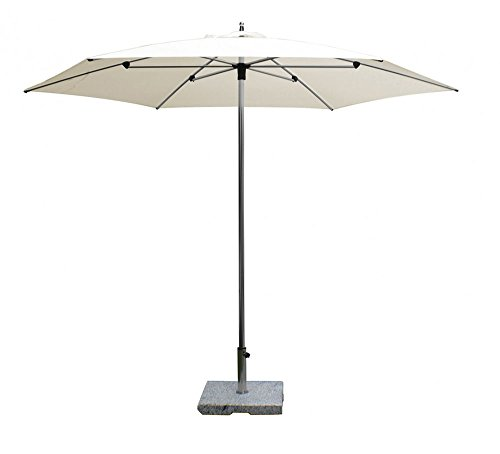 PEGANE Parasol centré Sublimo Blanc anti-UV rond ⌀300cm