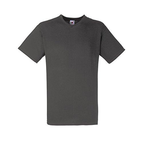 Fruit Of The Loom Valueweight T-shirt für Männer mit V-Ausschnitt, kurzärmlig Light Graphite (Solid)