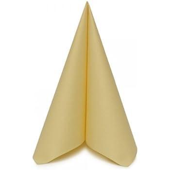 Lot de 50 Qualit/é sup/érieure Alfred Mank Paper serviettes en lin Argent/é 40 cm x 40 cm