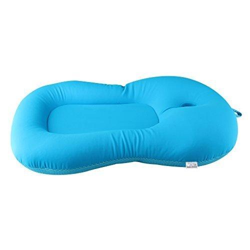 Baby Bath Seat, KAKIBLIN Baby Bath Cushion Newborn Bath Support Anti-Slip Bath Tub Pillow for 0-6 Month (Blue)