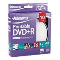 memorex-premium-dvd-r-47gb-printable-16x-10er-pack-cakebox-dvd-rohlinge-bedruckbar