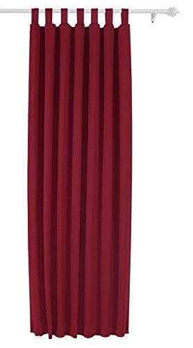Deconovo Rideau Occultant à pattes de Chambre 140x175cm Isolant Thermique Rouge