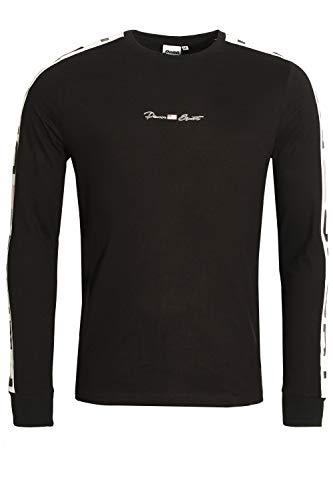 PENN SPORT Panelled Long Sleeve Crew Neck T-Shirt | Black Large - Longsleeve Penn