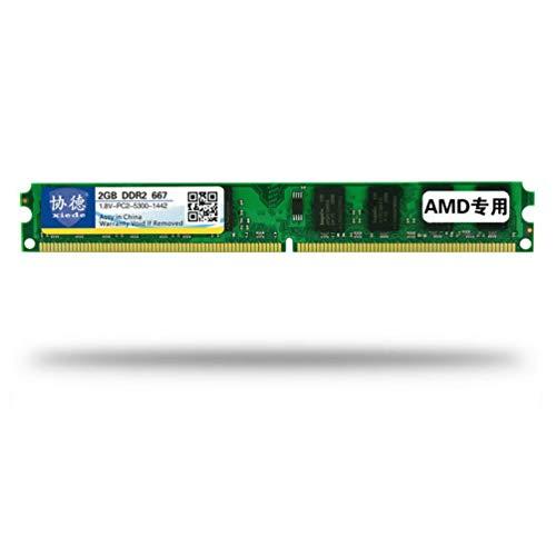 xiede DDR2 667 2G Desktop-PC-Speicher Memoria-Modul PC2-5300 AMD Speziell - Grün -