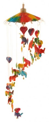 colourful-childrens-elephant-paper-mobile