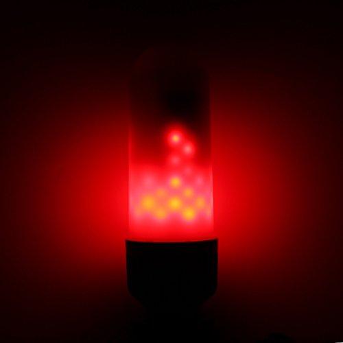 MASUNNE27 B22 5W Smd2835 99Leds Rouge Bleu Vert Flamme Scintillement Ampoule Ac85-265V-B22- Rouge