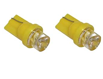Aerzetix Set of 2 LED Bulbs 12 V WY5 W T10 Yellow Light.