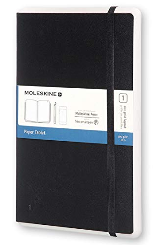 et Notizbuch Digitales Smart Notizbuch Paper Tablet (mit gepunkteten Seiten und Hardcover, gepunktet, Large 13 x 21cm) schwarz ()