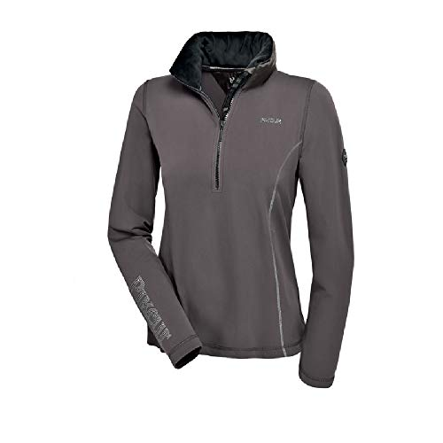 PIKEUR Damen Funktionsshirt mit Stehkragen ROSALIA Premium Kollektion Herbst/Winter 2017/2018, dark shadow, 38