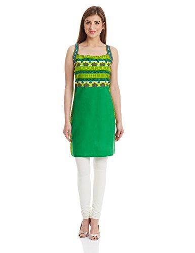 Shree Women's kurta (15369B_Green_2XL)  available at amazon for Rs.359