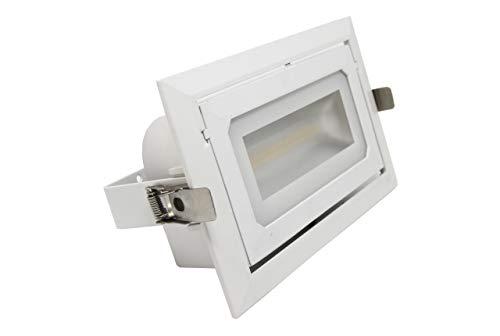 FactorLED Foco Proyector LED 36W Rectangular 120º, Empotrable, Iluminación Interior, Focos para...