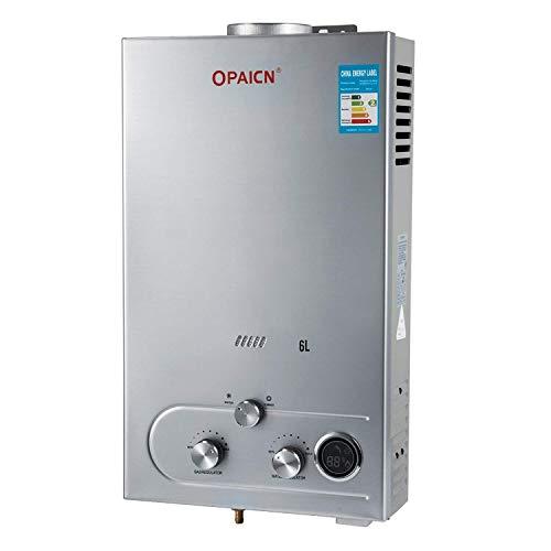 FlowerW 6L LPG Gas-Warmwasserbereiter mit Digitaler LCD-Warmwasserbereiter Automatische Konstante Temperatur(6L LPG) -