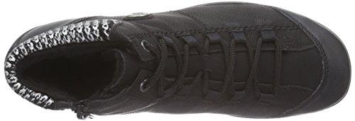 Rieker L6530, Sneakers Hautes femme Noir (schwarz/schwarz/schwarz-silber / 00)