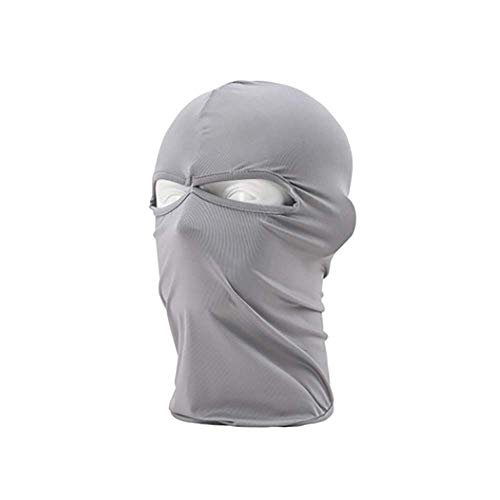 Wudi Multifunktions-Riding Maske Winddichtes Sonne Staubkopfmaske Kalter Regen Schutz Balaclava atmungsaktiv elastischer Ski Outdoor-Motorrad-Reithelm Hellgrau Maske