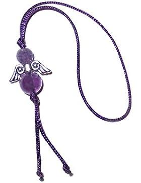 Engel Anhänger Edelstein Amethyst-violett Glücksengel Geschenkeanhänger handgemacht GE0312