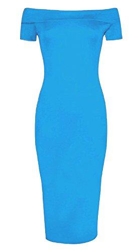 Fashion 4 Less Damen Schlauch Kleid Türkis