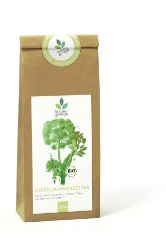 kräuter & wege ® | Bio Angelikawurzel Angelika Engelwurz Tee 30g | Getrocknete Premium Qualität | Abgefüllt in Deutschland
