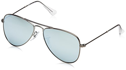 Ray Ban Kinder Sonnenbrille 0RJ9506S, Grau (Gestell: Matt Grau Gläser: Grau Flash 250/30), Small (Herstellergröße: 50)