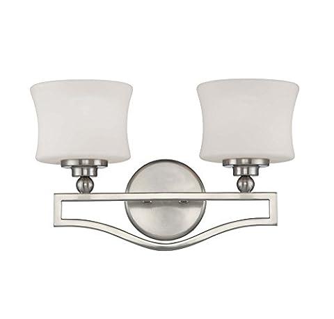 Savoy House 8P-7215-2-SN Bath with Opal Glass Shades, Satin Nickel