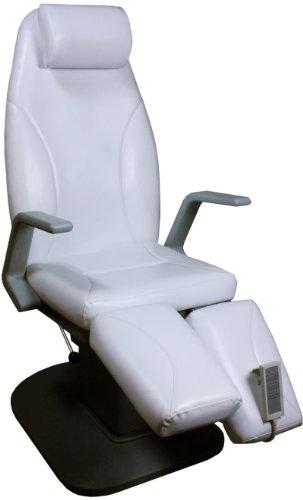 elektrisch höhenverstellbare Kosmetikliege Fußpflegeliege mit Neigungsverstellung Farbe weiß
