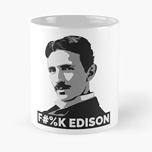 Nikola Tesla Thomas Edison Hate Love Nerd Nerdy Geek Geeky - Best 11 oz Kaffee-Becher - Tasse Kaffee Motive