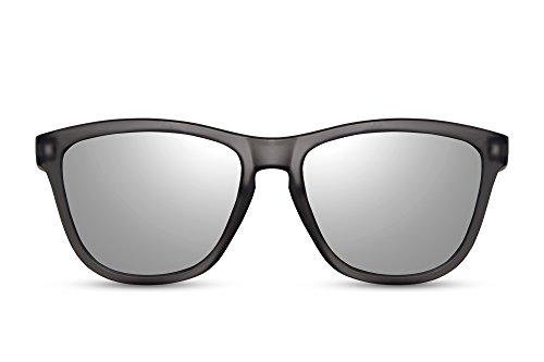 Cheapass Sonnenbrille Recht-Eckig Schwarz Silber-n Verspiegelt UV-400 Sport Outdoor Nerd-Brille...