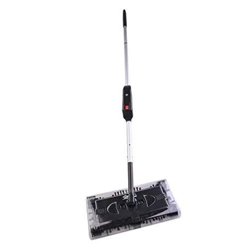 Preup Elektrischer schwenken Kehrmaschine Sweeper akkubesen kabellos Besen Boden und Teppich kehrer- Staubsauger mit akku, Elektrischer Besen Geeignet für Haus Büro Reinigung (Schwarz) -