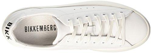 BIKKEMBERGS Damen Pow-Er 659 Niedrige Sneaker Bianco