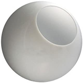 14 in. White Acrylic Globe - with 5.25 in. Neckless Opening - American 3201-14020-003 by American Made Plastics