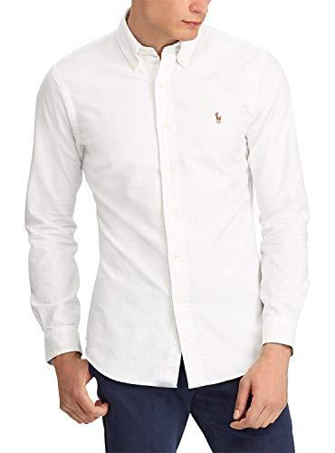 Polo ralph lauren camicia oxford bianco uomo m bianco