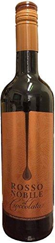 1 Flasche Rosso Nobile al Cioccolata Schokoladenwein 75cl / 750ml Flasche / 10{10c7e166ddb550d1dd04e94cd440dd75ec6849fba7fcaab9143806fea3c1a2f8} Vol.
