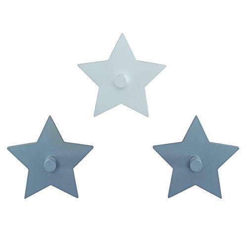 roba Wandhaken 'Little Stars' mit Sterne Motiv, Wand Garderobe & Deko fürs Baby- & Kinderzimmer -