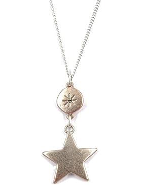 Hultquist Halskette Moon & Star 42cm rosegold