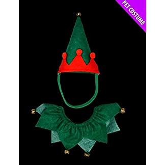2xred and green elf pet set - hat and collar - suitable for cats & dogs - christmas fancy dress. 2XRed and Green Elf Pet Set – Hat and Collar – Suitable for Cats & Dogs – Christmas Fancy Dress. 31jTSuDdwTL