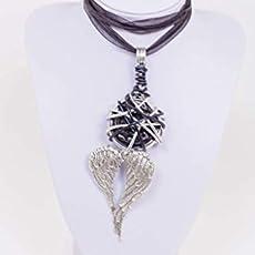 Syloschmuck ★ Damenkette ★ Halskette ★ Engel ★ Schutzengel ★ Fl/ügel/★ Kork/★ Weihnachtsgeschenk/★ Handmade/★ Geschenk f/ür Sie