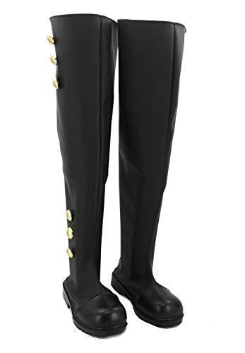 Seraph of The end Mikaela Hyakuya/ Krul Tepes/ Ferid Bathory Stiefel Karneval Schuhe Cosplay Boots Herren Schwarz ()