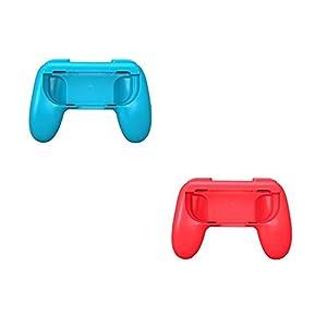 Althemax 2x Grip Kits Joy-Con Griffe Daumen Griffe Griff Schutz Controller Case Race Car Remote Dock Zubehör Joy-Con Schwarz / Rot / Blau Für Nintendo Switch Mario Car Racing Spiele