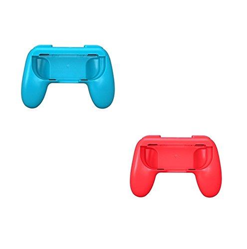 Althemax® 2x Grip Kits Joy-Con Grips Poleas Mango Proteja el Controlador Case Race Car Remote Accesorio Joy-Con Negro / Rojo / Azul Para Nintendo Switch Mario Car Juegos de Carreras 31jTY8awkvL