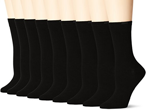 Nur Die Damen Socken 487801, 9er Pack, Gr. 42 (Herstellergröße: 39-42), Schwarz (Schwarz 940)