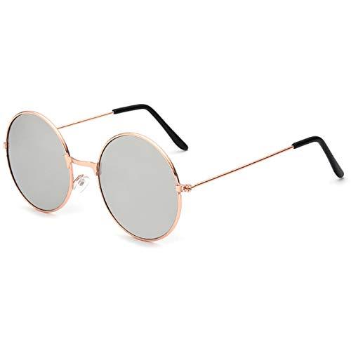 Daawqee Ladies Fashion Round Mirror Sunglasses Women Men Vintage UV400 Protection Sun Glasses Retro Eyeglasses Oculos De Sol 4066 x23 Gold
