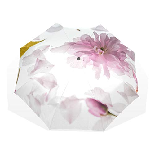 Kompakter Regenschirm Stilvoller winddichter Sonnenschirm für Männer, Frauen, Blütenblätter -