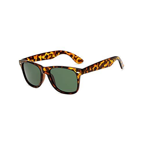 Vikimen Sportbrillen, Angeln Golfbrille,Brand Mens Polarisiert Sunglasses Women Square Mirror Sun Glasses Male Driving Classic Unisex Gafas Gafas UV400 Leopard G15
