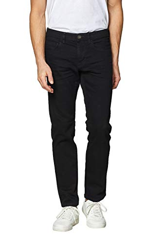 ESPRIT Herren Straight Jeans 029EE2B003 Schwarz (Black Rinse 910) W36/L36 (Herstellergröße: 36/36)