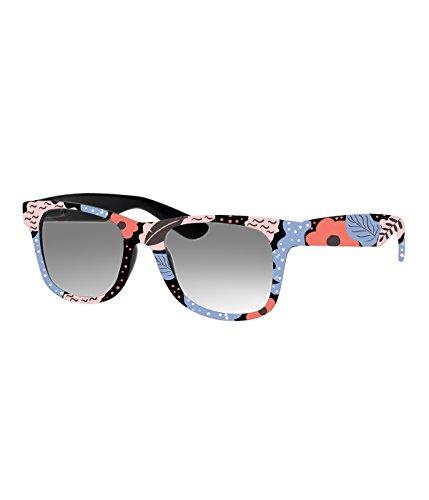 Rockacoca Unisex (Damen Herren) Sonnenbrille mit Design UV400 - Unisex sunglasses with Handpainted Spring Flowers Design