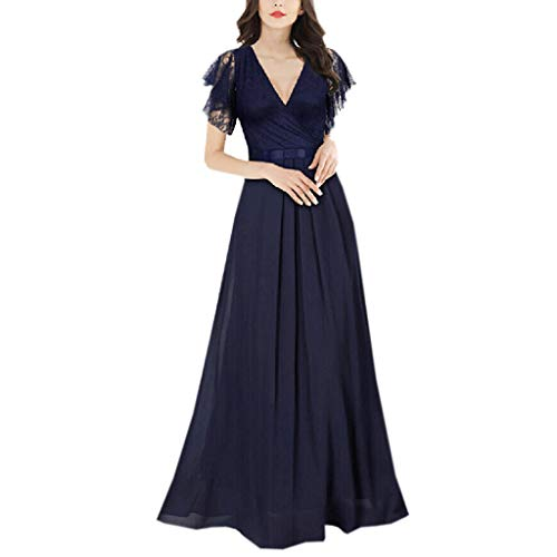 2018JYJM Weihnachten Mode Sexy Frauen s Spitze Chiffon Patchwork V-Ausschnitt Kleid Bogen Langes Maxikleid Flapper Kleider voller Pailletten Retro Stil V-Ausschnitt Motto Party Damen Kostüm Kleid