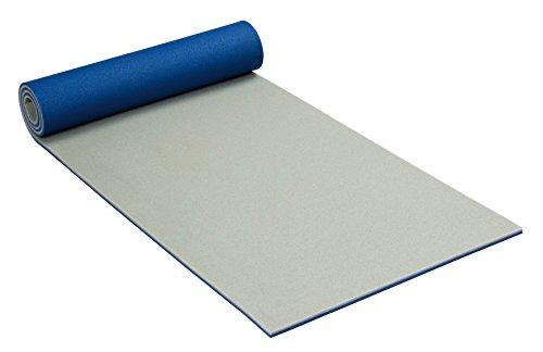 Friedola - Tappetino da ginnastica, a doppio strato, arrotolabile, 200 x 55 cm, spessore: 13 mm, colore: Grigio, blu