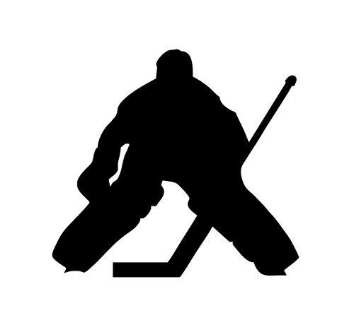 t Aufkleber Dekor Eishockey Torwart Silhouette Wandaufkleber Für Kinderzimmer Farbe Schwarz Style61X58Cm ()