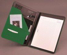 Alassio 30085 - Schreibmappe MESSINA im DIN A4 Format, Businessmappe aus Lederimitat, Dokumentenmappe in grün, Mappe ca. 32,5 x 24,5 x 2 cm