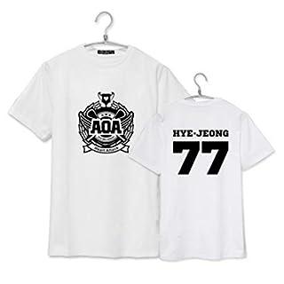 Kpop AOA Heart Attack Mitgliedsname Druck Shirt Solide Baumwolle Kurzarm Top Tees Aoa Fans Unterstützende Sommer T-Shirt